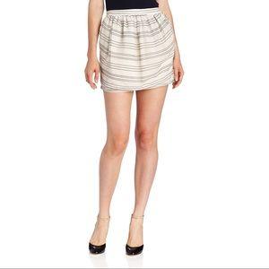 BCBGeneration Striped Mesh Mini Skirt